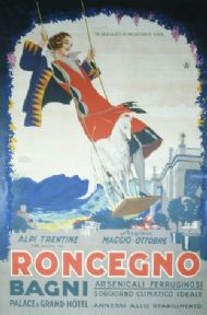 Vintage poster - Roncegno Bagni Palace Grand Hotel Italian Sta